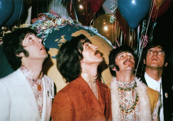 the beatles flying