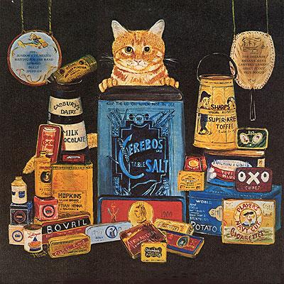 Portada Posterior de  Nicky Hopkins - The Tin Man Was a Dreamer. Parece ser una cuestión muy Piscis el gusto por los gatos, yo como Piscis también les puedo decir que soy un amante total de los felinos.