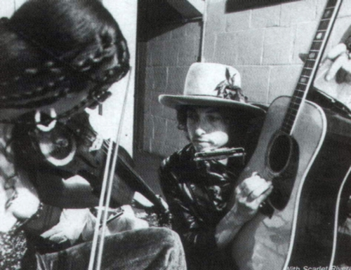 Scarlet Rivera & Bob Dylan
