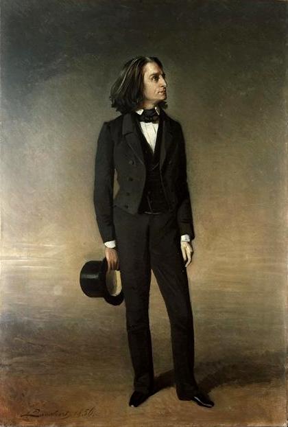 Franz Liszt par Lauchert Richard - 1856