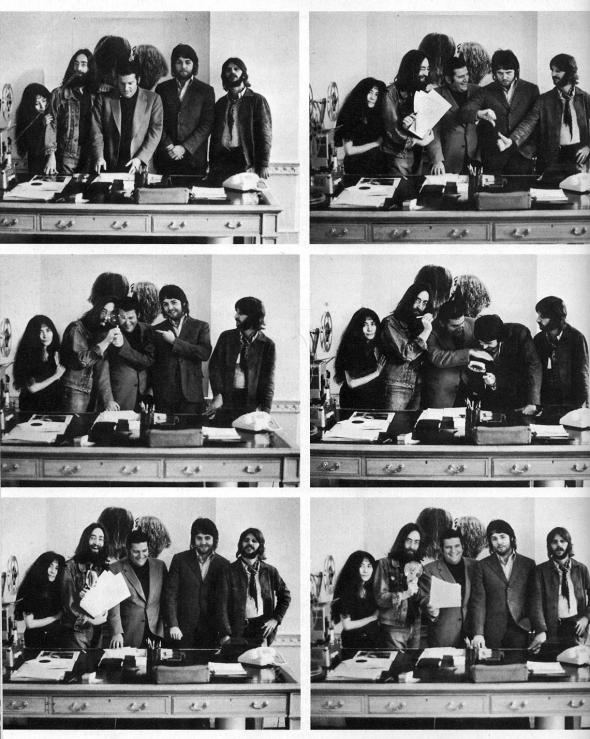 The Beatles, Yoko Ono, and Allen Klein