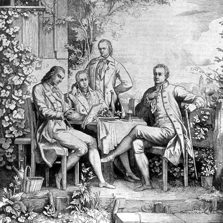 Schiller, Von Humbolt Brothers and Goethe