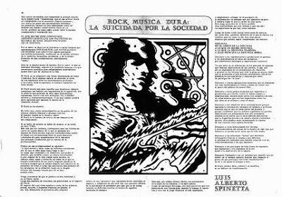 Spinetta: Rock: música dura. La suicidada por la sociedad