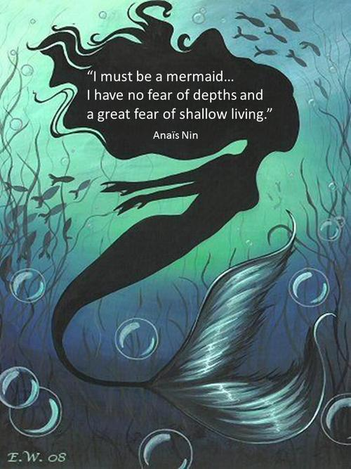 Anaïs Nin mermaid
