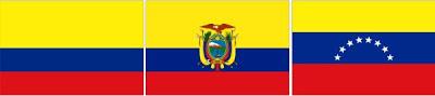 bandera ecuador, colombia, venezuela, Goethe