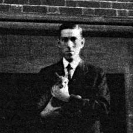 H.P. Lovecraft and his cat