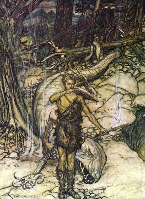 Sigfrido mata a Fafner