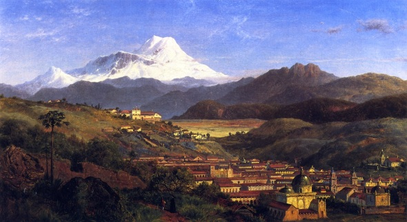 View of Riobamba, looking North Towards Mount Chimborazo